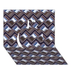 Metal Weave Blue Apple 3D Greeting Card (7x5)