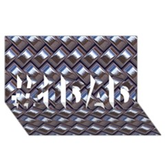 Metal Weave Blue #1 DAD 3D Greeting Card (8x4)