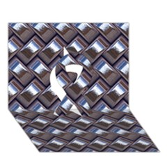Metal Weave Blue Ribbon 3d Greeting Card (7x5)