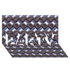 Metal Weave Blue PARTY 3D Greeting Card (8x4)