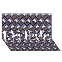 Metal Weave Blue Believe 3d Greeting Card (8x4)