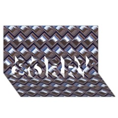 Metal Weave Blue SORRY 3D Greeting Card (8x4)