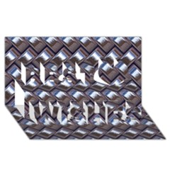 Metal Weave Blue Best Wish 3d Greeting Card (8x4)