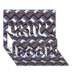 Metal Weave Blue You Rock 3D Greeting Card (7x5)