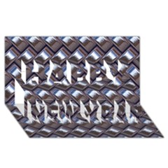 Metal Weave Blue Happy New Year 3d Greeting Card (8x4)