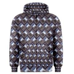 Metal Weave Blue Men s Zipper Hoodies