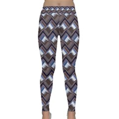 Metal Weave Blue Yoga Leggings