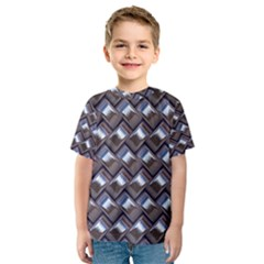 Metal Weave Blue Kid s Sport Mesh Tees