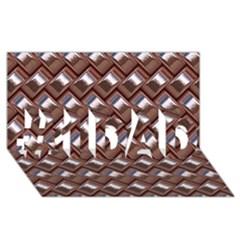 Metal Weave Pink #1 DAD 3D Greeting Card (8x4)