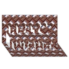 Metal Weave Pink Best Wish 3D Greeting Card (8x4)