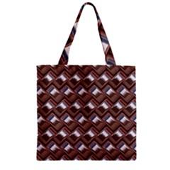Metal Weave Pink Zipper Grocery Tote Bags