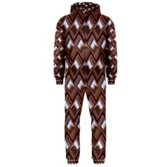 Metal Weave Pink Hooded Jumpsuit (Men)
