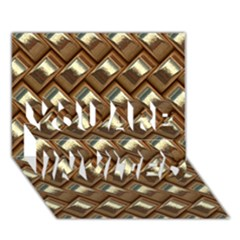 Metal Weave Golden YOU ARE INVITED 3D Greeting Card (7x5)