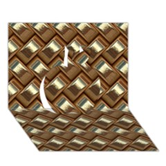 Metal Weave Golden Apple 3D Greeting Card (7x5)