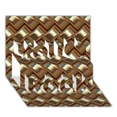 Metal Weave Golden You Rock 3D Greeting Card (7x5)