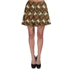 Metal Weave Golden Skater Skirts