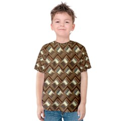 Metal Weave Golden Kid s Cotton Tee