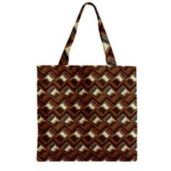 Metal Weave Golden Zipper Grocery Tote Bags