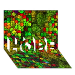 Artistic Cubes 01 HOPE 3D Greeting Card (7x5)