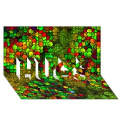 Artistic Cubes 01 HUGS 3D Greeting Card (8x4)