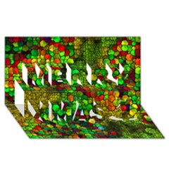 Artistic Cubes 01 Merry Xmas 3d Greeting Card (8x4)