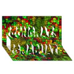 Artistic Cubes 01 Congrats Graduate 3d Greeting Card (8x4)