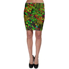 Artistic Cubes 01 Bodycon Skirts