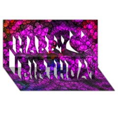 Artistic Cubes 2 Happy Birthday 3D Greeting Card (8x4)