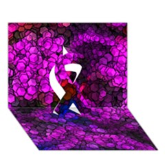 Artistic Cubes 2 Ribbon 3D Greeting Card (7x5)