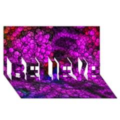 Artistic Cubes 2 BELIEVE 3D Greeting Card (8x4)