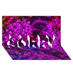 Artistic Cubes 2 Sorry 3d Greeting Card (8x4)