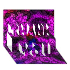 Artistic Cubes 2 Thank You 3d Greeting Card (7x5)