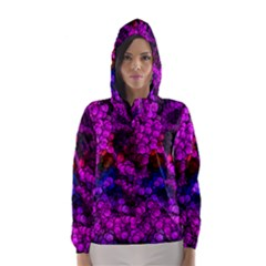 Artistic Cubes 2 Hooded Wind Breaker (Women)