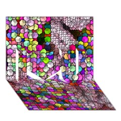 Artistic Cubes 3 I Love You 3D Greeting Card (7x5)