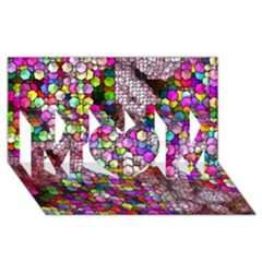 Artistic Cubes 3 MOM 3D Greeting Card (8x4)