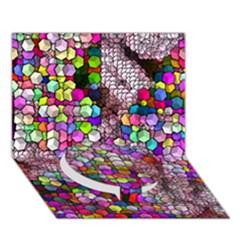 Artistic Cubes 3 Circle Bottom 3D Greeting Card (7x5)