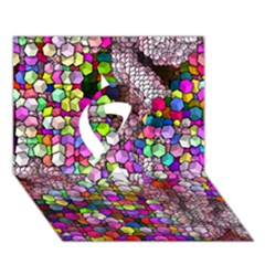 Artistic Cubes 3 Ribbon 3D Greeting Card (7x5)