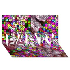 Artistic Cubes 3 PARTY 3D Greeting Card (8x4)