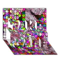 Artistic Cubes 3 Take Care 3d Greeting Card (7x5)