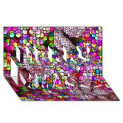 Artistic Cubes 3 Merry Xmas 3D Greeting Card (8x4)