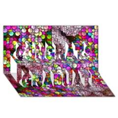Artistic Cubes 3 Congrats Graduate 3D Greeting Card (8x4)