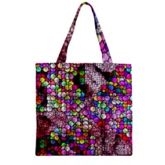 Artistic Cubes 3 Zipper Grocery Tote Bags