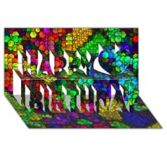 Artistic Cubes 4 Happy Birthday 3D Greeting Card (8x4)