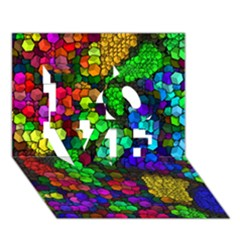 Artistic Cubes 4 LOVE 3D Greeting Card (7x5)