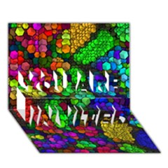 Artistic Cubes 4 YOU ARE INVITED 3D Greeting Card (7x5)