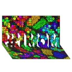 Artistic Cubes 4 #1 MOM 3D Greeting Cards (8x4)