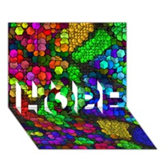 Artistic Cubes 4 Hope 3d Greeting Card (7x5)