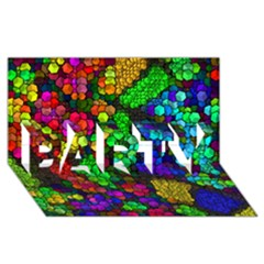 Artistic Cubes 4 PARTY 3D Greeting Card (8x4)