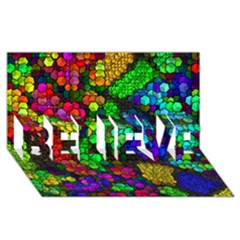 Artistic Cubes 4 BELIEVE 3D Greeting Card (8x4)