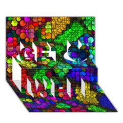 Artistic Cubes 4 Get Well 3d Greeting Card (7x5)